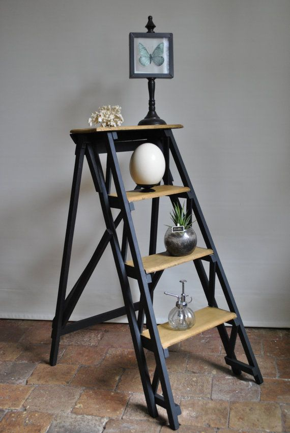 17 beste idee n over escabeau op pinterest escabeau bois for Echelle deco en bois