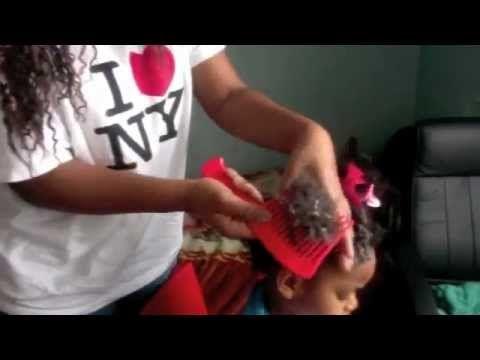Soin des cheveux crépus de nos filles!! - YouTube