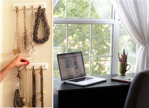 Accessory display and simple organized desk: Girls, Office Spaces, Accessories Display, Offices Spaces, Simple Organizations, Master Bedrooms, Desks Offices, Desk Office, Organizations Desks