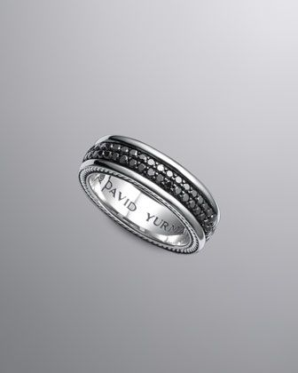 black diamond band ring by david yurman at neiman marcus love this for a mans wedding band - David Yurman Mens Wedding Rings