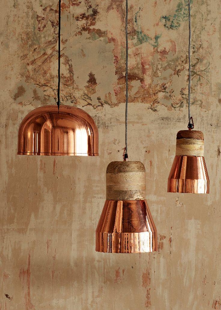 Des suspensions cuivrées pour doubler la luminosité - Marie Claire Maison
