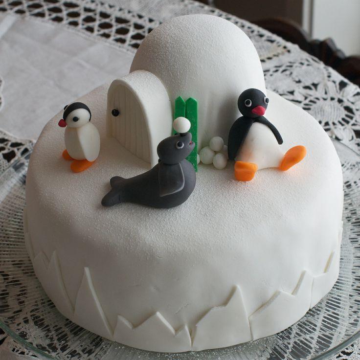 Pingu cake for my daughters 2-year birthday
