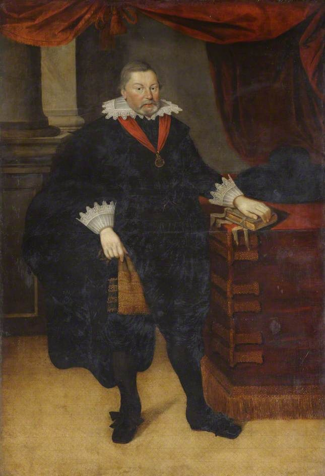 """Sir Ralph Hare, Knight of the Bath"", Marcus Gheeraerts the younger, ca. 1610; St. John's College 133"