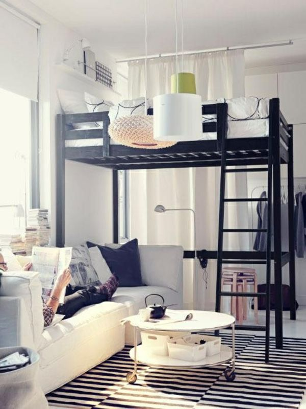die besten 25 ikea hochbett ideen auf pinterest betten. Black Bedroom Furniture Sets. Home Design Ideas