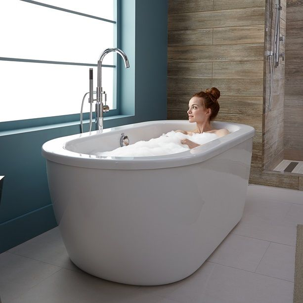 17 best ideas about freestanding tub on pinterest for Best freestanding tub material