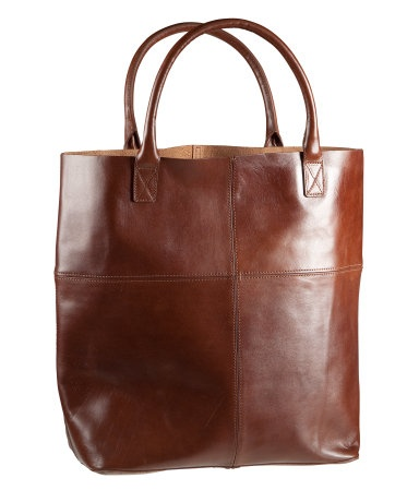 H&M; leather tote