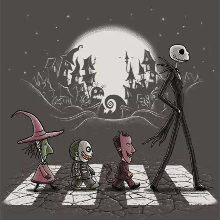 Jack, Lock, Shock and Barrel - The Nightmare Before Christmas.. For the background