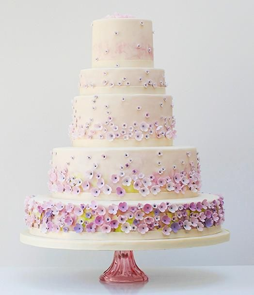 Monet's Garden wedding cake -Exclusive To Harrods | Wedding Cakes From Talented Rosalind Miller #WeddingCakes www.finditforweddings.com
