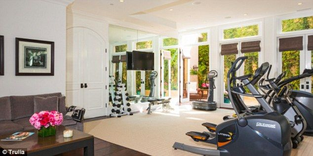 Indoor gym: The house features a workout area, too...