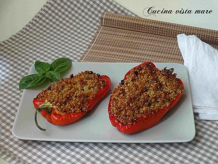 Peperoni ripieni di quinoa e verdure Cucina vista mare