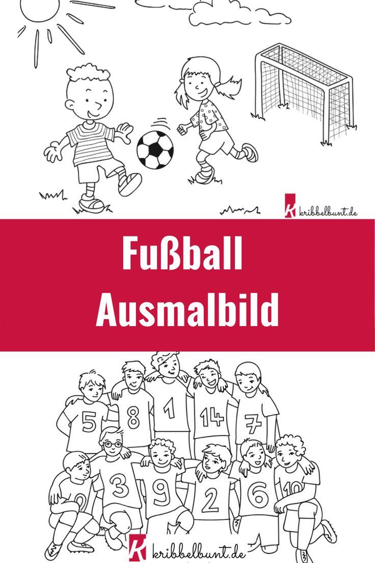 ausmalbilder fußball  für kinder kostenlos ausdrucken in
