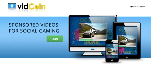 Vidcoin propose une solution de monétisation pour les éditeurs de jeux sociaux (qui seraient à 90% gratuite selon la jeune pousse) : la publicité vidéo.