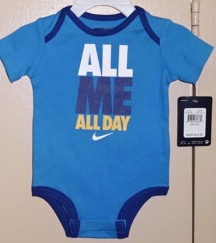 NIKE All Me All Day Size 0 3 Months Blue Bodysuit One Piece NWT Brand New Tags #Nike #Everyday