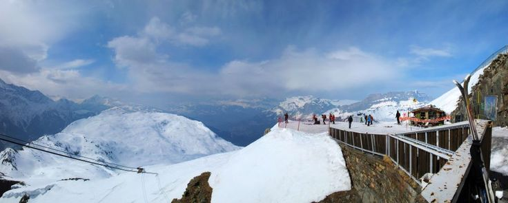 A panorama shot taken from the entrance of Le Panoramic Restaurant. Chamonix