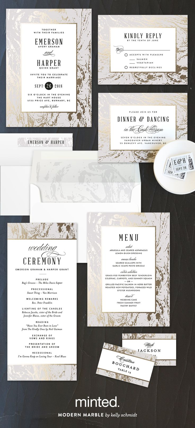 make your own wedding invitations online free%0A Make your theme a contemporary classic with Modern Marble wedding invitation  design by Minted artist Kelly Schmidt  Completely customizable on Minted