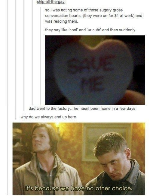 When they saw signs everywhere:   18 Times The Supernatural Fandom Hilariously Hijacked Tumblr Posts