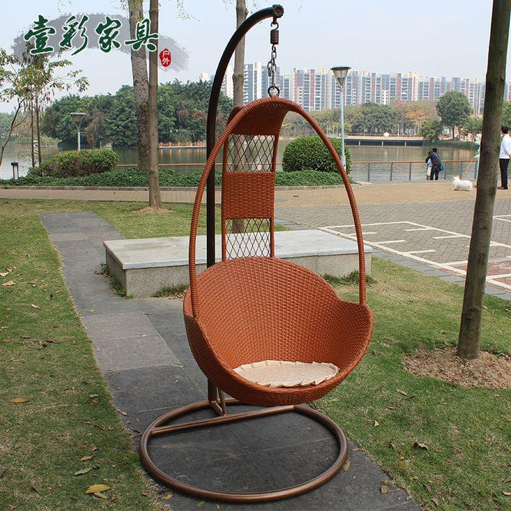 Кресло качалка крытый открытый балкон одного плетеная из ротанга висит корзина качели купить на AliExpress