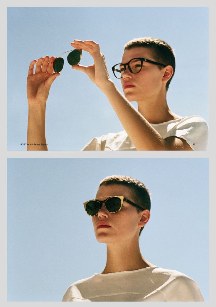 The MYKITA Glasses - Teresa with clip-on sunglasses/shades. Frame and clip-on sold separately. Available in 4 colors.