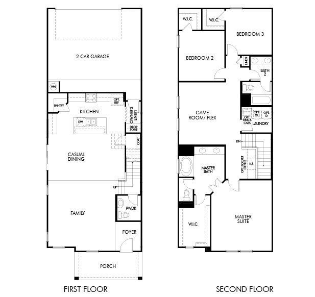 Open Floor Plan Empty House Tour For The Liang Run Open House Plans Floor Plans 2 Story Basement House Plans