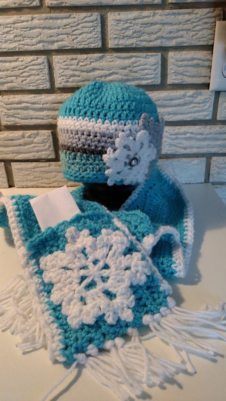 Frozen crochet hat & scarf by MyKneadfulThings on Etsy
