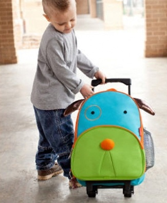 We're obsessed with this Skip Hop zoo luggage. Add to #registry now, have for years!