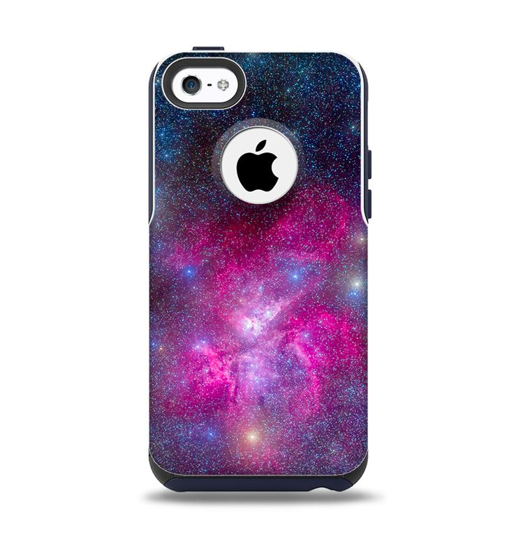 The Pink & Blue Galaxy Apple iPhone 5c Otterbox Commuter Case Skin Set