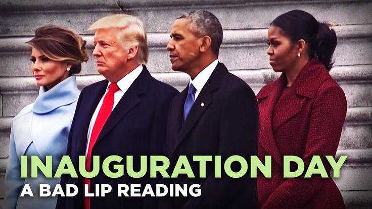 A Hilarious Bad Lip Reading of Donald Trump's Presidential Inauguration