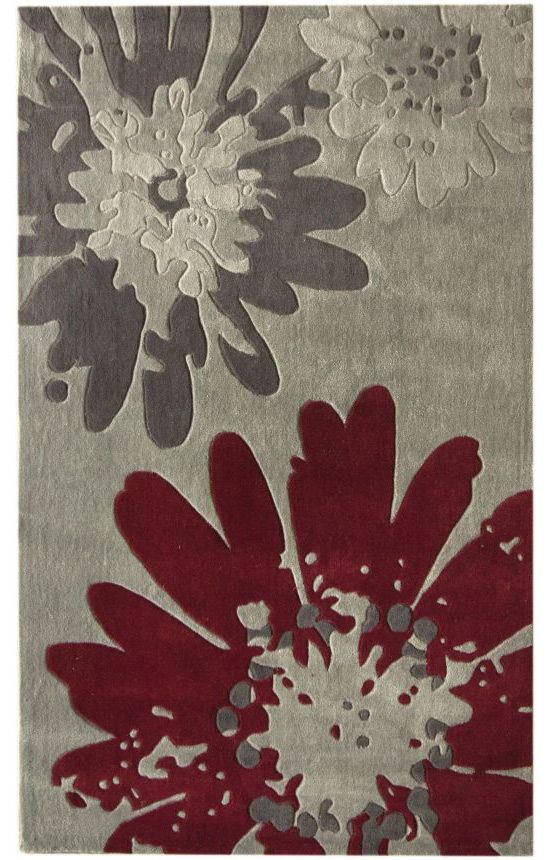 Rugs Usa Radiante Bold Floral Grey Rug Miscellaneous