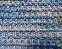 Ravelry: Hurdle stitch diagonal dishcloth / Lavette au point de claie pattern by Tricots et créations Isabelle