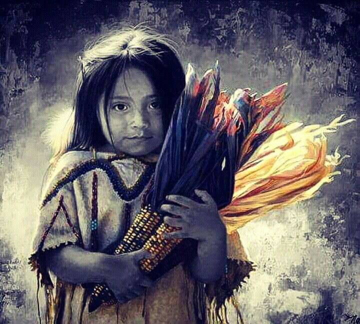 """It is only alone, truly alone that one bursts apart, springs forth."""" ~ Maria Isabel Barreno Little girl holding corn. Niña…   Ometeotl, Mapa de mexico, Quetzacoalt"""