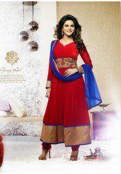 Designer Red Georgette Wedding Salwar Suit by Vendorvilla.com