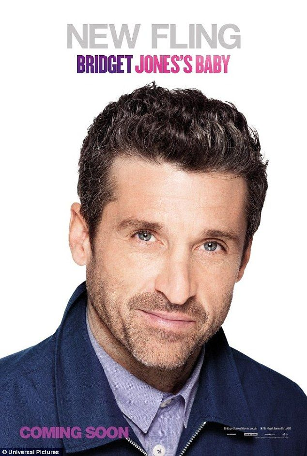 Sizzling new romance: Donned as Bridget's 'new fling', former Grey's Anatomy star Patrick Dempsey smolders in to the camera with his sparkling blue eyes