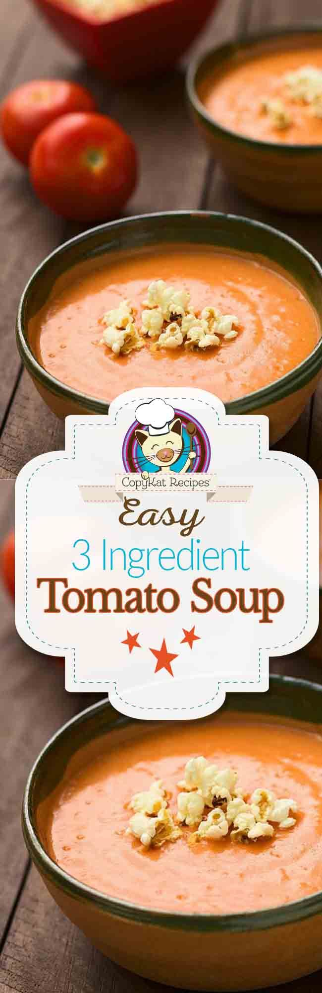 Try this easy to make roasted tomato soup.   It has just 3 main ingredients.  You are certain to love this gluten free recipe.