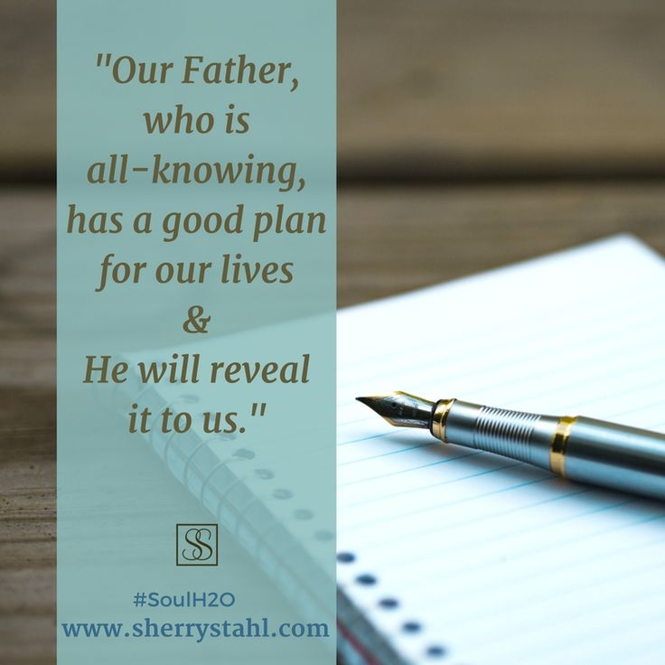 For the times when we're unsure, it's good to remember that He is weaving something good for us, that He has things to reveal along the way! Check out @SherryStahl 's book #SoulH2O and read more encouragement and refreshing for your heart!