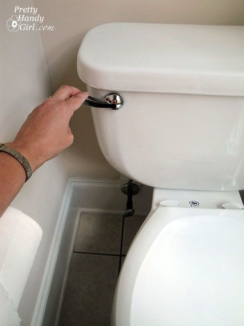 how to replace the toilet lever which flushes the toilet