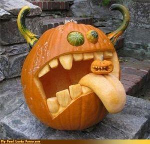 ...Interiors Design, Halloween Pumpkin, Pumpkin Decor, Pumpkin Carvings, Jack O' Lanterns, Monsters, Halloween Decor Ideas, Carvings Pumpkin, Pumpkin Design