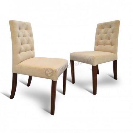 krzesło do jadalni pikowane