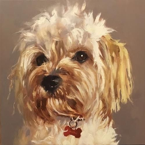 "Daily Paintworks - ""MILOU"" - Original Fine Art for Sale - © Helen Cooper"