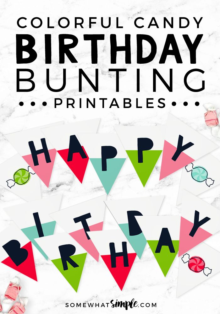 This colorful happy birthday sign is going to be perfect for your next birthday celebration!