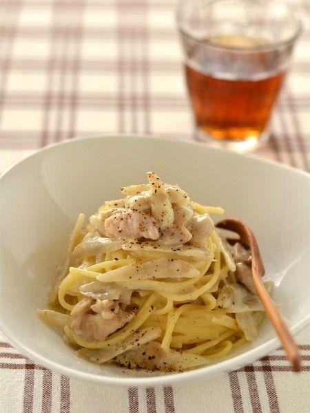 ごぼうと鶏肉のクリームパスタ by ロマンスグレーガール | レシピ ...