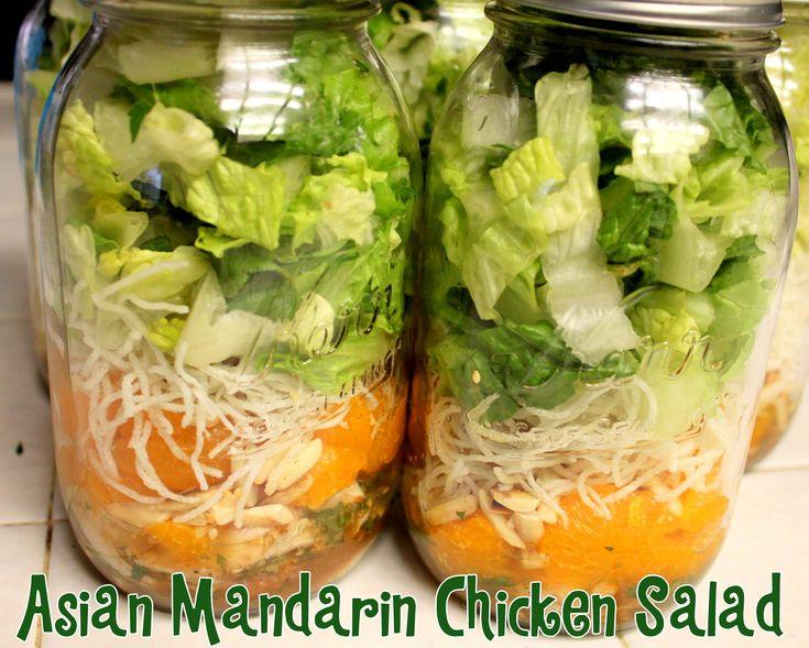 Asian Mandarin Chicken Mason Jar Salads @ Ya Gotta Have a Hobby