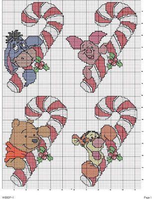 Una Locura de ideas !!!  de punto de cruz: Winnie de Pooh y sus amigos en punto de cruz te fe...