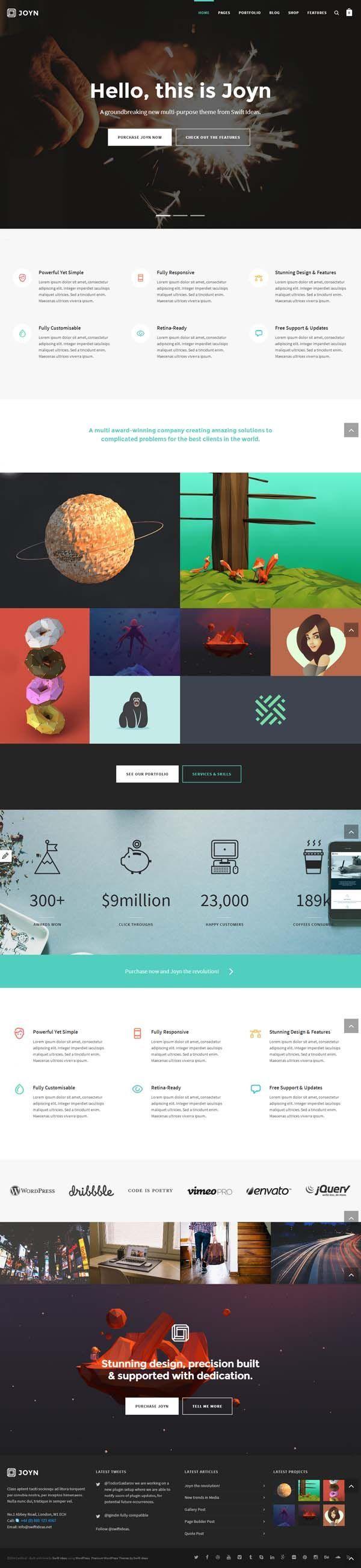 Joyn - Creative Multi-Purpose Theme by SwiftIdeas #wordpress #theme #website #webdesign #themeforest