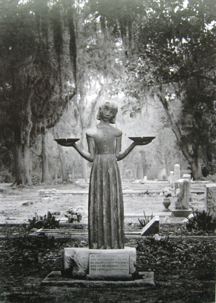 The bird girl statue was sculpted in 1938 by sylvia shaw judson and was purchased by savannah In the garden of good and evil movie