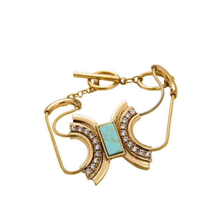 Wholesale C Brand Jewelry Capri Convertible Charm Bracelet for Women Clear Crystal Pave U-Shaped Togle Bracelet
