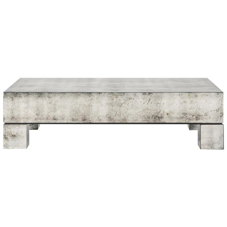 Phineas Industrial Loft Antiqued Mirror Coffee Table | Kathy Kuo Home 1633
