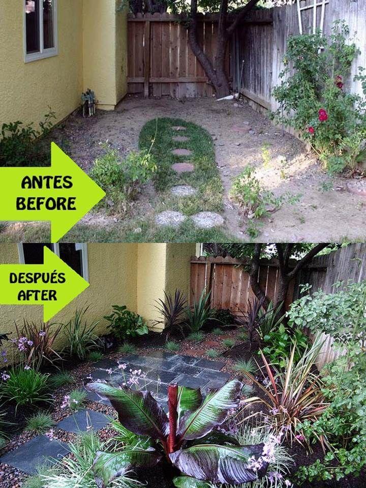 Idea para un peque o espacio antes y despu s dise o - Ideas para jardineria ...