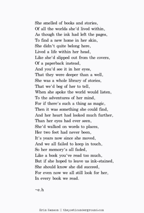 The Paperback Princess. http://thepoeticunderground.com/ #poem #poetry