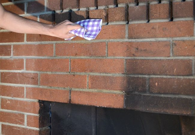 clean sooty fireplace tips