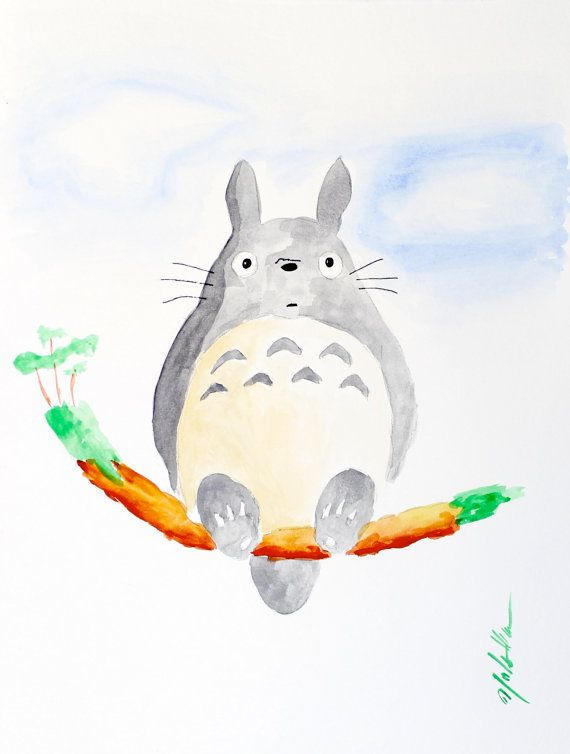 Totoro Free Shipping by KilbornArt on Etsy